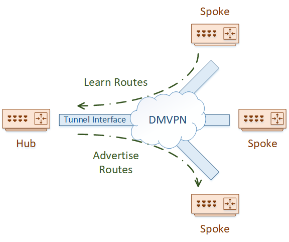 DMVPN has split-horizon concerns, as routes are learned and advertised on the same interface