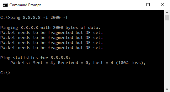 If a packet is larger than the MTU, and DF is set, we get an ICMP error message. This helps to find the MTU on the network